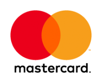 Mastercard logo red, yellow, orange