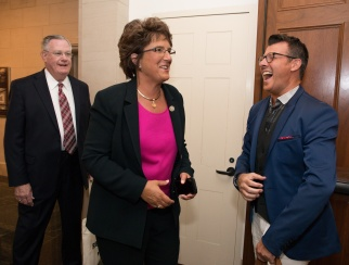 Danny Reynolds meeting with Rep. Jackie Walorski, R-Ind., during Retail Advocates Summit 2017.