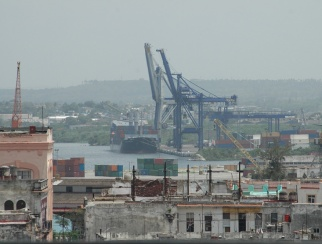 Cuba's main port has only one road in and one road out, which can get clogged.