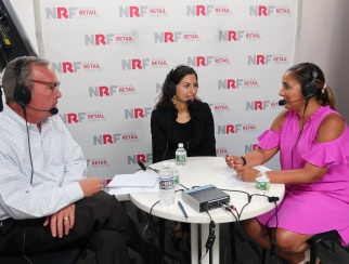 Kavita Shukla (center) chats with co-hosts Ana Serafin Smith (right) and Bill Thorne (left)