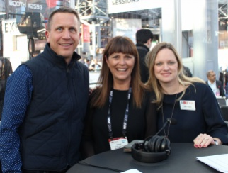 Kate Ross LeBlanc (middle) with hosts Ellen Davis (right) and Steve Barr (left).