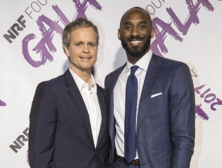 NBA great Kobe Bryant presented Mark Parker with 'The Visionary' award at the NRF Foundation Gala 2017.