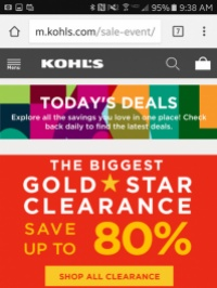 Kohl's swapped positions with Best Buy to move up to No. 3.