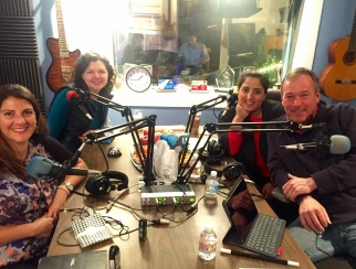 Jill Dvorak (front left) in the studio with Retail Gets Real co-hosts Bill Thorne (front right), Artemis Berry (back right) and Jessica Hibbard (back left).