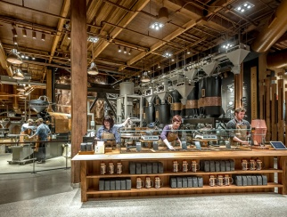 Starbucks' first Roastery, a 15,000-square-foot space, opened in Seattle in 2014.