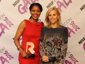 Laysha Ward (left) and Tory Burch were honored as Givers on The List of People Shaping Retail's Future 2016.