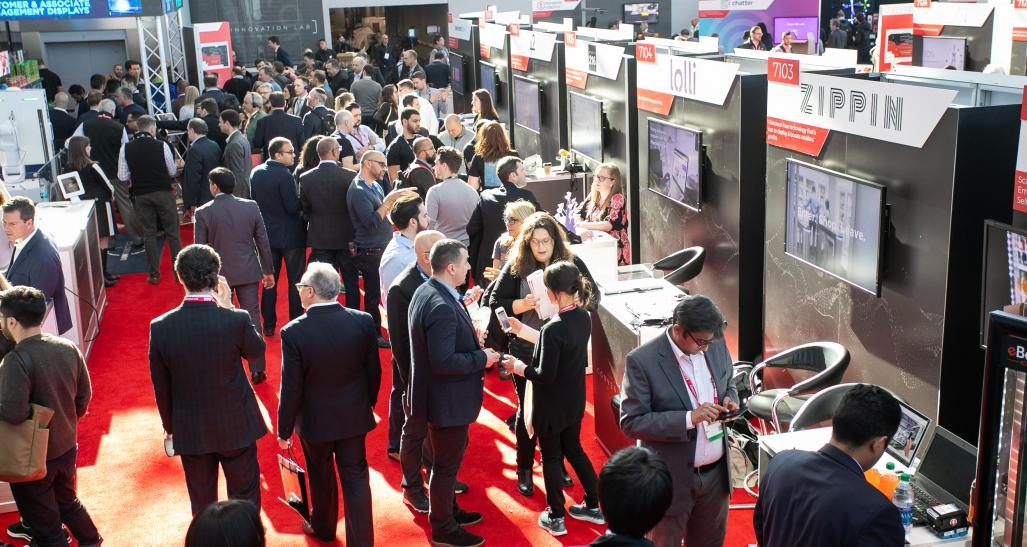 People standing in the innovation lab at NRF 2019: Retail's Big Show