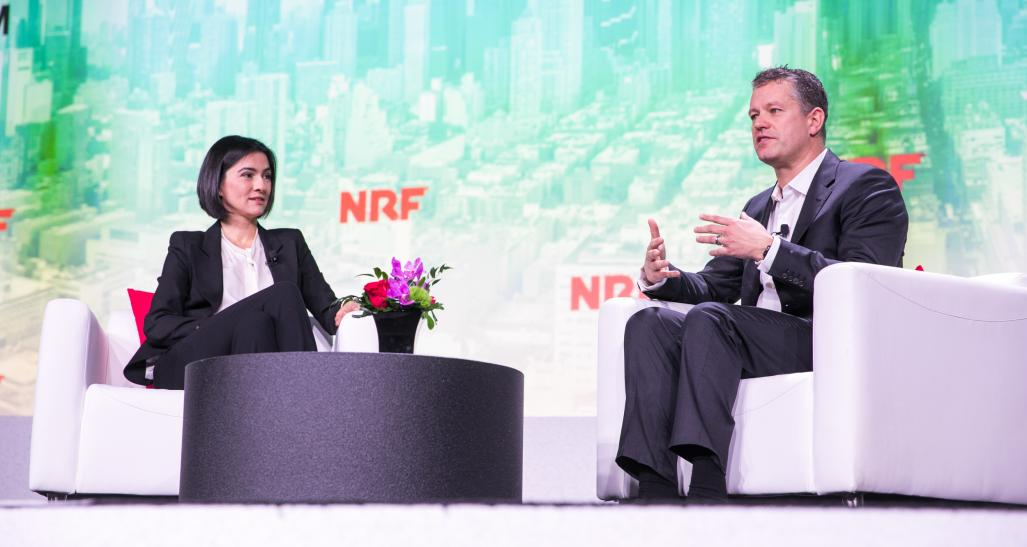 Zeynep Ton, MIT, with John Furner, Walmart U.S., at NRF 2020