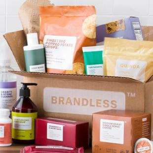 Boxes and bottles from Brandless