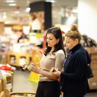 Women in grocery store