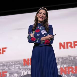 Brandless CEO Tina Sharkey on stage at NRF 2019