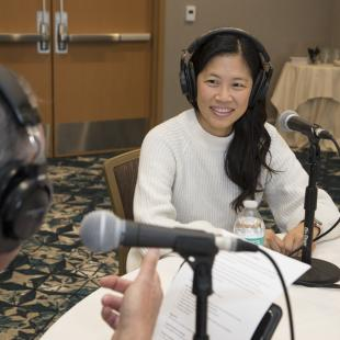 KiwiCo's Sandra Oh Lin records podcast