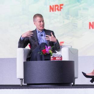 Erik Nordstrom speaks on stage at NRF 2020