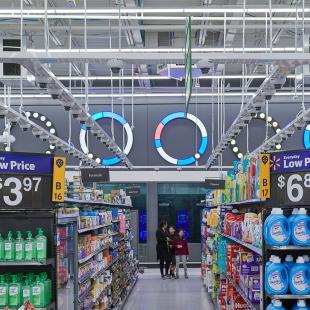 Interior of Walmart IRL
