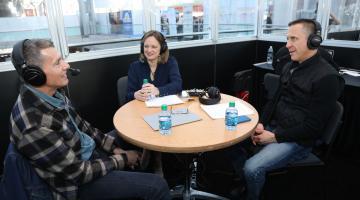 Levi's Chip Bergh with Ellen Davis and Steve Barr