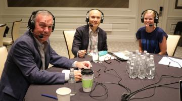Zulily's Brian Doherty recording NRF podcast