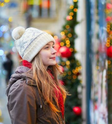 Girl at holiday market