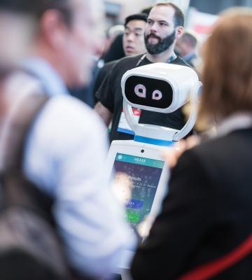 NRF 2019 Expo Hall robot