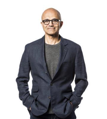 Microsoft CEO Satya Nadella's headshot