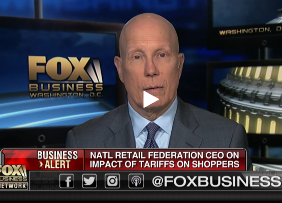 NRF CEO Matthew Shay on Fox Business discussing tariffs