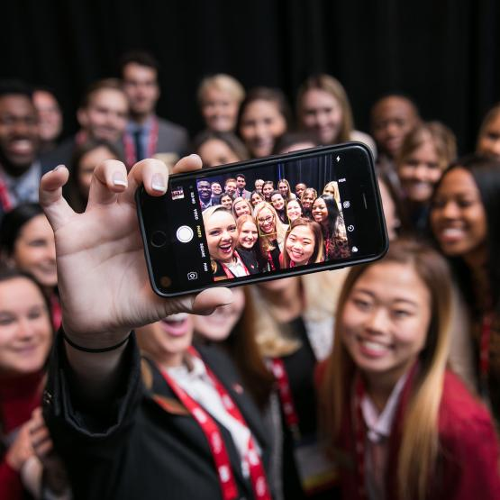 Students take a selfie at STudent Program 2019