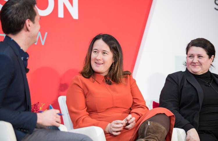 Mickey Onvural and Andrea Waldman at NRF 2020