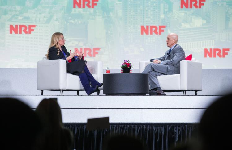 Mindy Grossman with Matthew Shay at NRF 2020